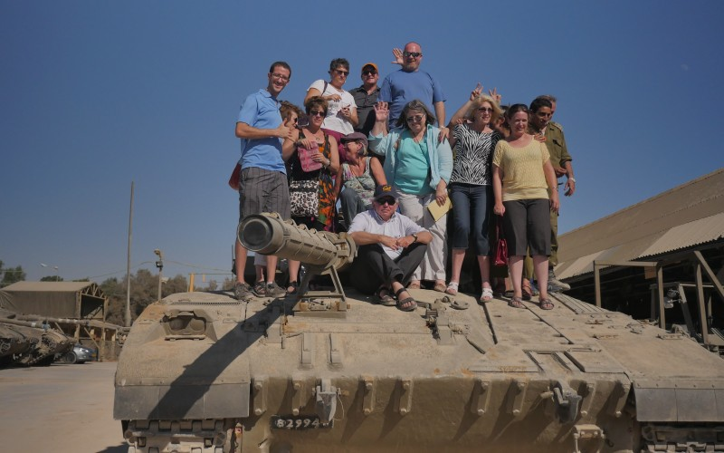 Touring an IDF army base